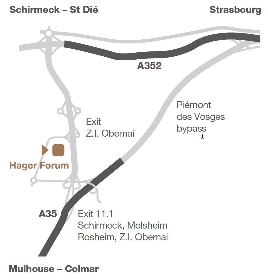 Hager Forum Anfahrt